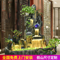 Large rockery water fountain decoration living room feng shui lucky landscape indoor balcony garden courtyard fish pond landscape