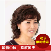 17 new female hair wig wigs in elderly lifelike short hair middle-aged lady temperament mother in the long hair
