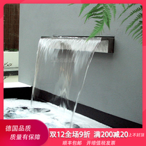 German Eurasia waterfall Waterscape stainless steel outlet water waterfall wall Fish Pond decorative Landscape water Design