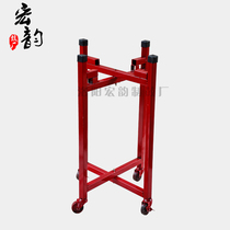 Prestige gongs drum flat Drum Red Drum cowhide drum Drum Rack metal drum rack folding push Universal wheel