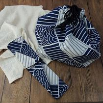 Paquet de coton et de lin bouche détanchéité boîte à lunch sac sac demballage avec cuillère baguettes triangulaire petit sac en tissu vaisselle Ensemble Sac