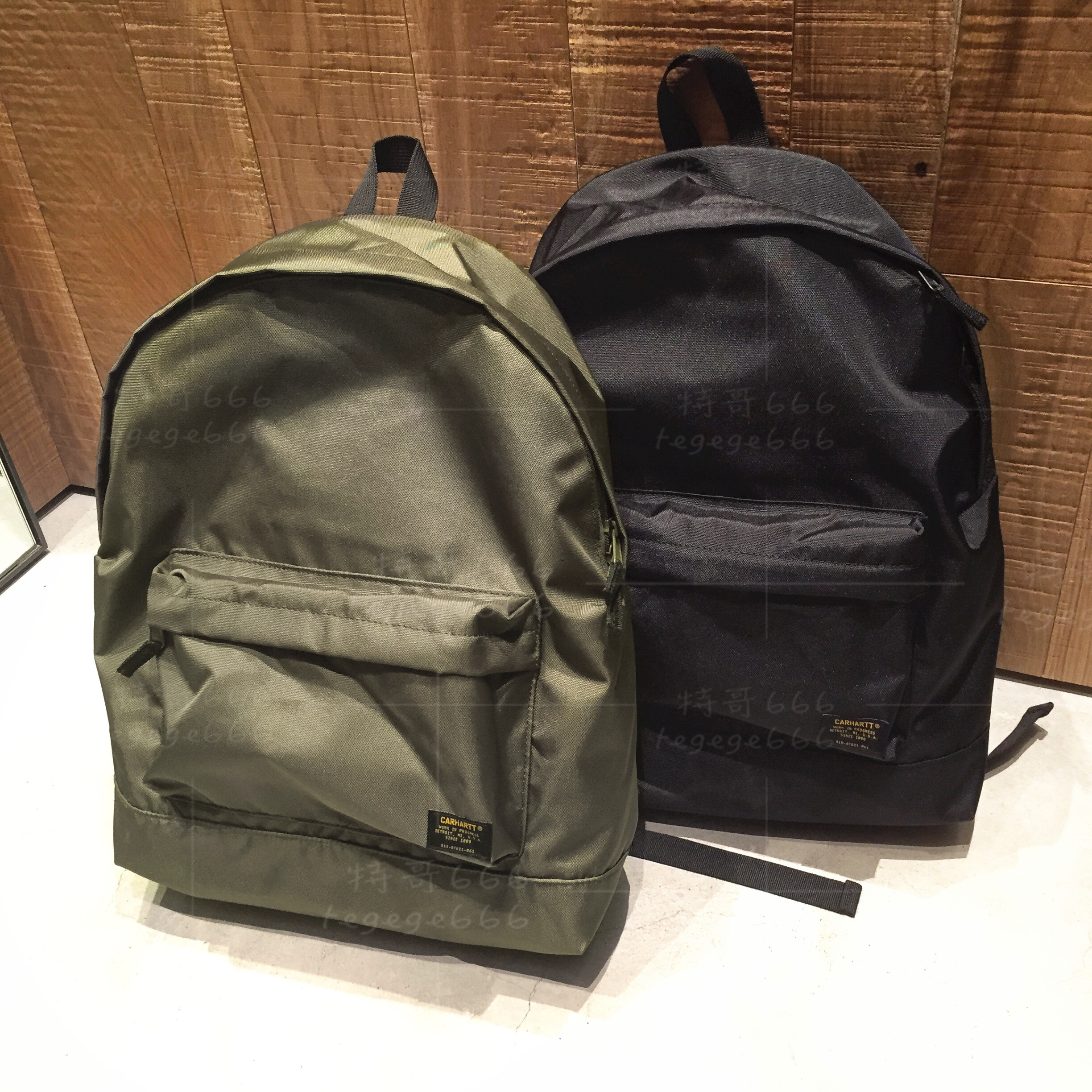 Spot CARHARTT WIP Backpack Backpack Computer Bag Bag Lightweight Simple Wild Military 18 Spring