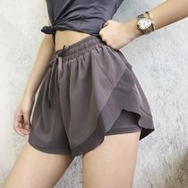 annerun sports shorts women loose summer quick-dry running fitness pants anti-walking high waist dance yoga pants