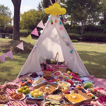 Outdoor picnic with net red ins small tent children spring tour tent bed family room sleeping foldable