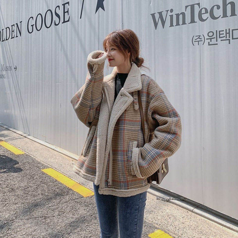 Maje kara gu gig lamb hair coat womens 2020 winter new small hair is thickened