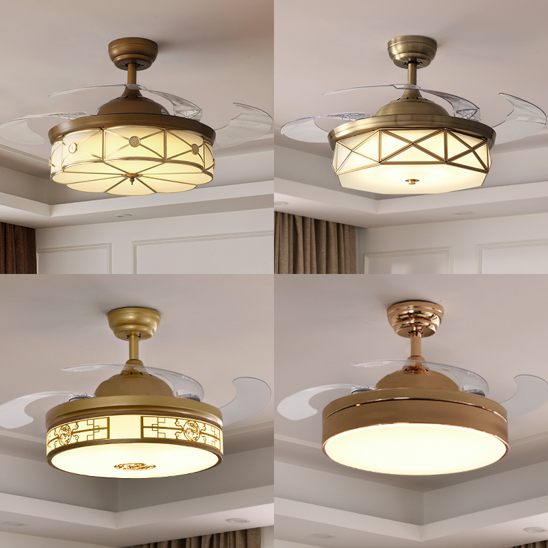Invisible fan lamp ceiling fan lamp northern Europe living room dining room bedroom household simple modern fan ceiling lamp with fan