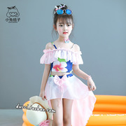 The girl child of Princess bikinis swimsuits points girl children swimwear Mermaid Costume in wear suit