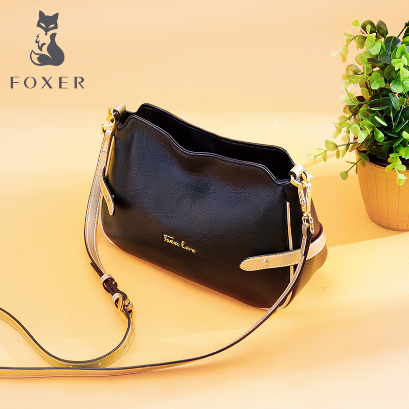Golden Fox Middle-aged Mother's Leather Bag and Girl's New Type of Large Capacity Head Layer Cattle Leather Recreational Single Shoulder Slant Bag in 2019