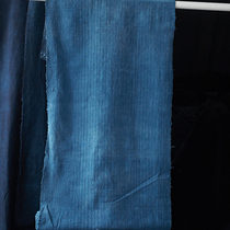 Hand-woven wide cotton cloth clean without breakage indigo dyeing length 4.3 m cm*48cm wl-3769