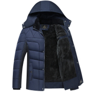The elderly men's clothing and cashmere jacket winter coat thick middle-aged man dad grandpa winter coat