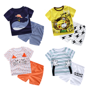 Summer baby baby clothes cotton short sleeved suit summer dresses shorts T-shirt boys aged 0-1-2-3