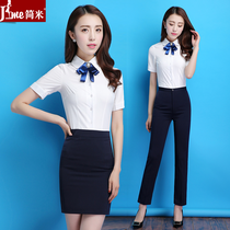 f4f0de7d65d Summer career womens suit fashion temperament thin section of the hotel  work clothes civil servants interview