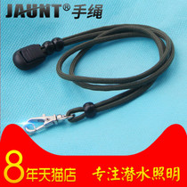 Jaunt strong light flashlight hand rope rope lanyard rope making with metal hook ring length 40CM