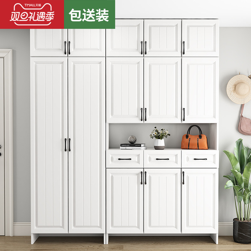 Shoe cabinet home door ultra-large capacity xuanguan cabinet simple modern door overall shoe cabinet one by the wall hall cabinet