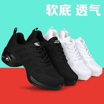 New mesh breathable dance shoe female soft bottom adult modern dancing shoes with jazz sailor square dance Shoes