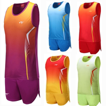 New track and Field Service male and female training suit elementary school students running clothing track and field vest track and field sportswear printing number