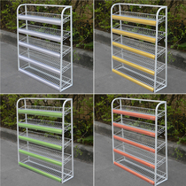 Shelf Convenience store checkout counter disassembly five-storey small shelf chewing gum display rack white grey shelf display frame