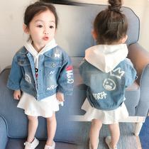 女宝宝女童牛仔小童婴儿0-3岁上衣