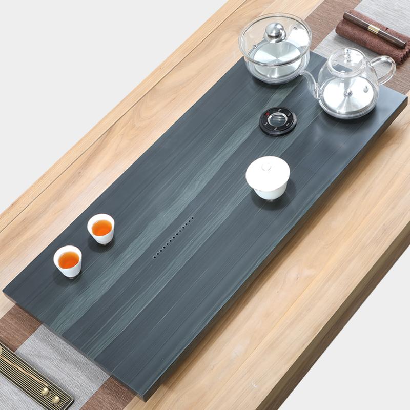 Wujin stone tea plate kung fu tea set fully automatic water tea table kettle one induction cooker home tea sea