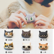 The cat cat BROOCH BADGE cute cartoon cat fashionista BROOCH BADGE for female