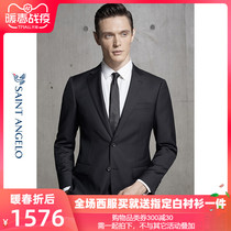 Annunciation bird new business two buttons dress suit Korean version slim wool mens occupation suit