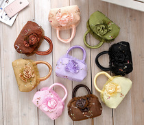 Everyday special embroidery embroidery handbag small canvas bag middle-aged mother hand carry hand cloth bag women
