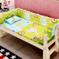 Zi mo bed surrounding baby princess bed surrounded by cotton thickened elevated childrens bed baby sheets Pillow mat