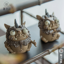 Device 12 Jingdezhen ceramics Pixiu Tea favorite Ornaments Boutique can be raised handmade incense plug opening birthday Gifts