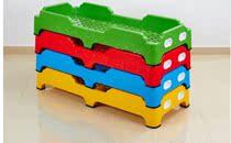 特价幼儿园床幼儿园专用床叠叠床幼儿塑料木板床 幼儿园小床睡床