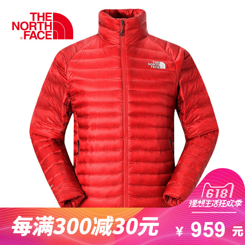 THE NORTH FACE/Northern Men's Outdoor Lightweight Portable 800 Peng Warm Stand Collar Down Jacket CK89
