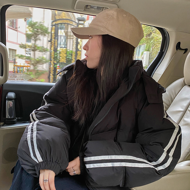 Hyy yee down jacket womens 2020 new Korean version of the oversize two 槓 hooded loose winter coat
