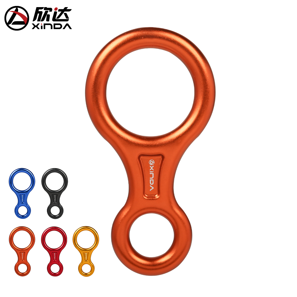Xinda outdoor 8 word loop descender descending downhill descending rope descending protector equipment 45KN