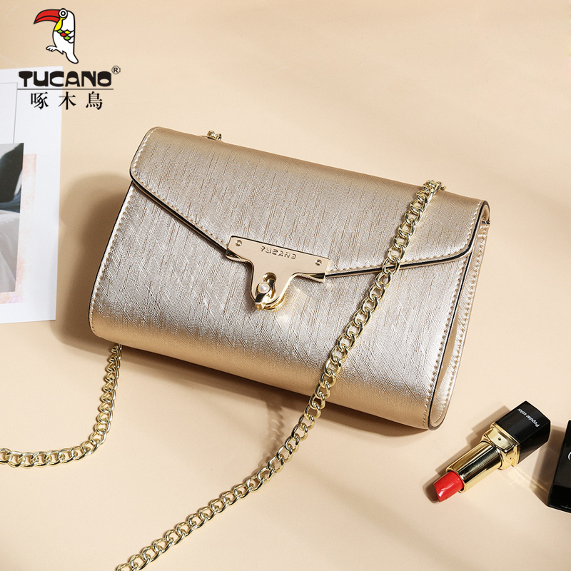 Woodpecker Female bag New Japan and South Korea tide fashion chain handbags Messenger bag Shoulder bag casual wild bag
