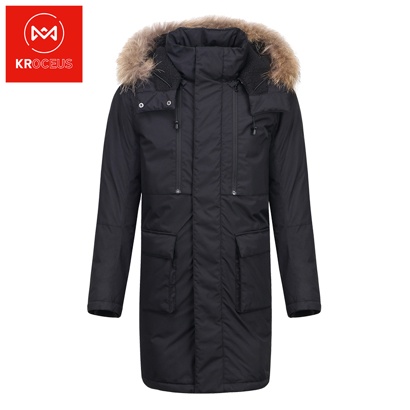 Kroceus Geoscientist autumn winter long down jacket mens long knee-length fashion warm jacket