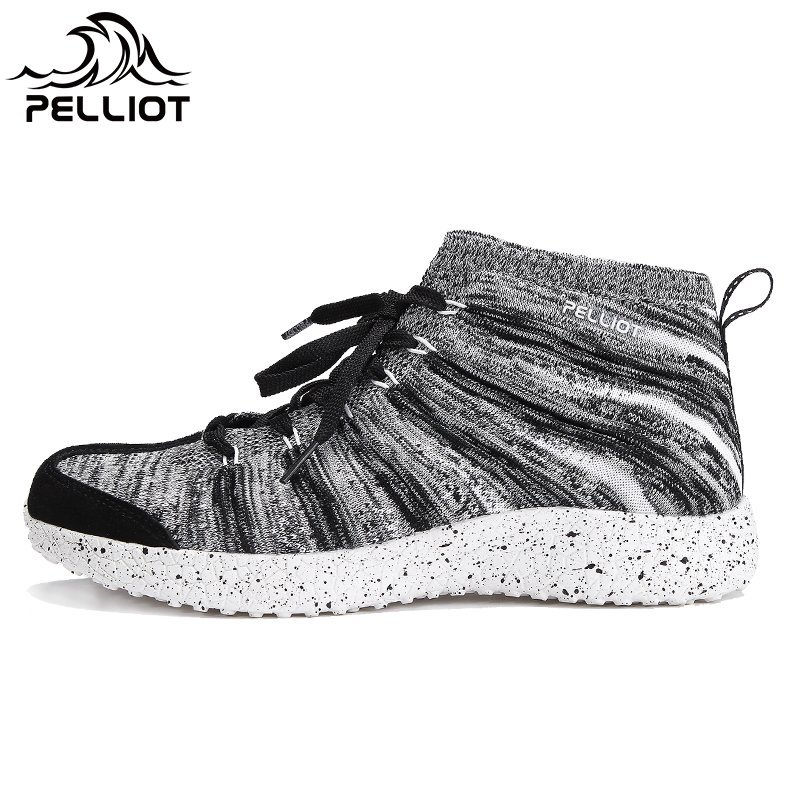 French PELLIOT outdoor casual shoes Men and women high-heeled walking shoes autumn and winter non-slip wear-resistant breathable sneakers