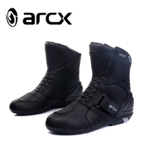 arcx Arkos waterproof racing shoes high top motocross boots riding motorcycle shoes leather motorcycle shoes