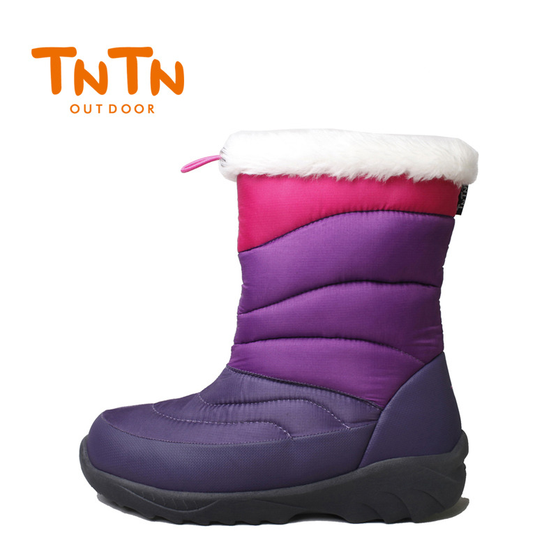 TNTN outdoor winter down in the high tube new Shirley warm velvet waterproof non-slip thick snow town women's shoes snow cotton boots