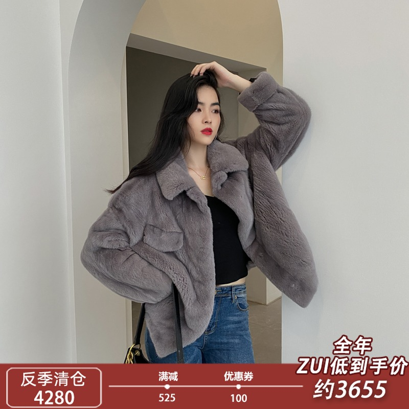 Imported small mothers whole mink fur coat womens short Haining fashion fur coat 2020 winter new