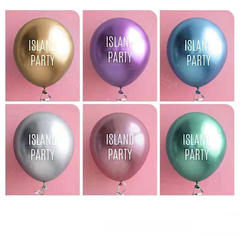 Metal balloon custom print logo custom balloon push birthday opening creative diy advertising balloon decoration