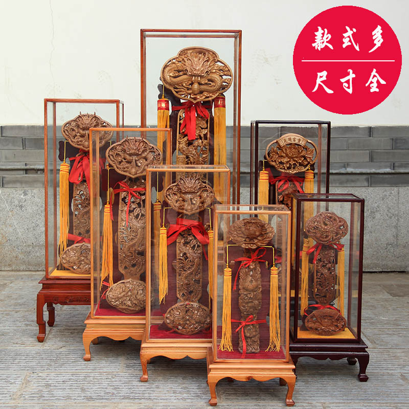 Feicheng Peach Wood Carving Dragon and Phoenix Peach Wood with Vertical Home Business Living Room Office Gifts