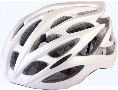 Cycling helmet bicycle mountain bike road bike helmet entry level helmet safety hat pure white