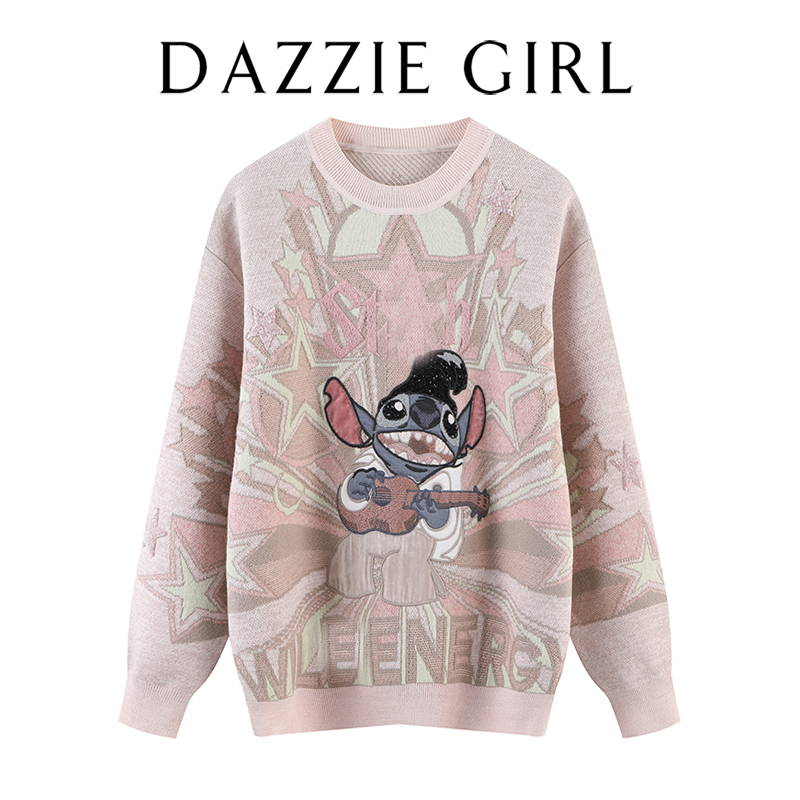 Edison 2020 winter dress new 100-piece thin cartoon letter kale loose-fitting sweater sweater sweater girl