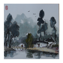 Shen sHi-tai professor master student instructor Li Gang after the rain the paper has been framed watercolor