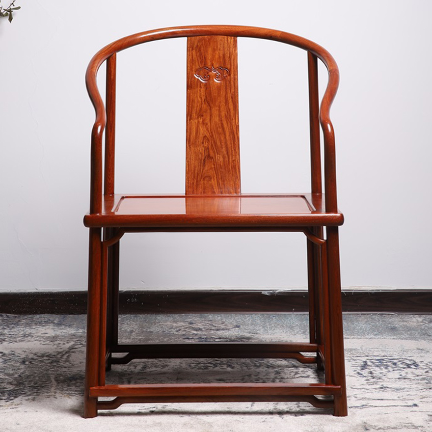 Ring chair redwood furniture Burmese pears big fruit eucalyptus solid wood home Chinese antique
