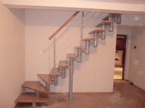 Manufacturer Custom Neck staircase overall staircase home steel staircase Guardrail handrail