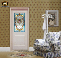 Custom door and Window Xuan Guan partition screen European church color Art Glass Villa clubhouse painted Glass