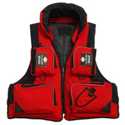 Professional adult fishing life jackets Multi Pocket clothes from drifting fishing thickened strong buoyancy vest