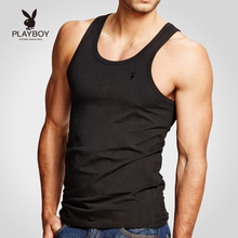 Playboy Men's Vest Cotton Slim-fit Sports Fitness Baseball Hurdle White Summer Tide Youth
