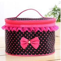 2016 Korean version of the new wave of cute lace fashion collapsible portable travel cosmetic storage bags Post Female