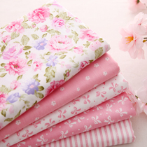 Cotton floral Twill stripe print fabric woven curtains bed skirt suit pants tablecloth cotton fabric